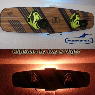 Wakeboard Wandhalter Clipboart Test